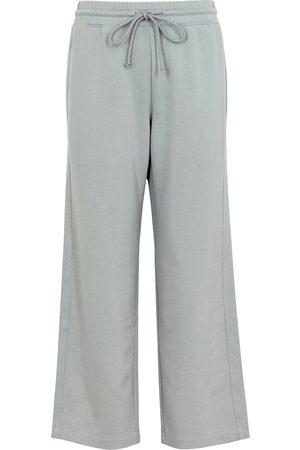 Vince Women Sweatpants - Grey wide-leg cotton sweatpants