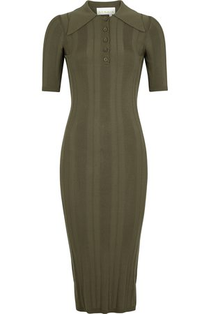 Remain by Birger Christensen Women Knitted Dresses - Evial army ribbed-knit midi dress