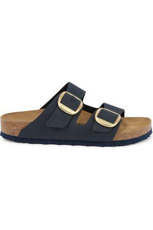Birkenstock Women Slippers - Arizona navy leather sliders