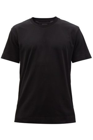 Givenchy 4g-embroidered Cotton-jersey T-shirt - Mens