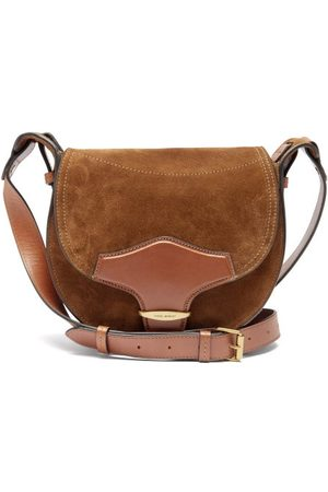 Isabel Marant Botsy Leather-trim Suede Cross-body Bag - Womens
