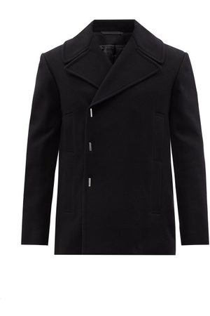 Givenchy Men Peacoats - Asymmetric Single-breasted Felted-wool Peacoat - Mens