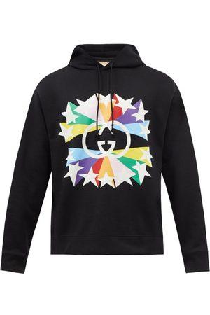 Gucci Star Burst-print Cotton Hooded Sweatshirt - Mens