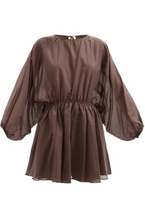 Loup Charmant Women Party Dresses - Kitta Open-back Organic-cotton Voile Mini Dress - Womens