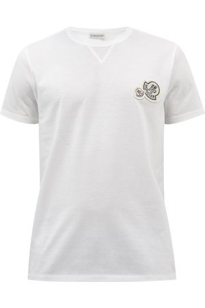 Moncler Men Short Sleeve - Logo-appliqué Cotton-jersey T-shirt - Mens