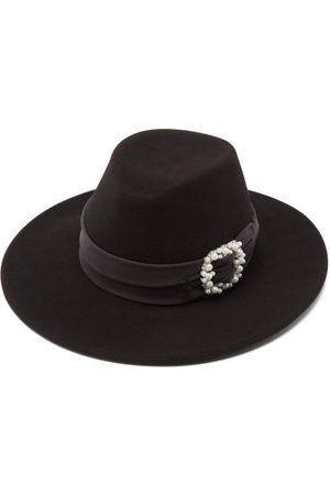 Le Mont St Michel Kyra Embellished-buckle Wool-felt Fedora Hat - Womens