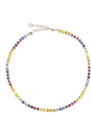 Amina Muaddi Tennis Crystal-embellished Necklace - Womens - Multi