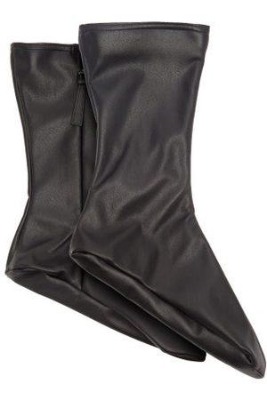 Wolford X Amina Muaddi Faux-leather Ankle Socks - Womens