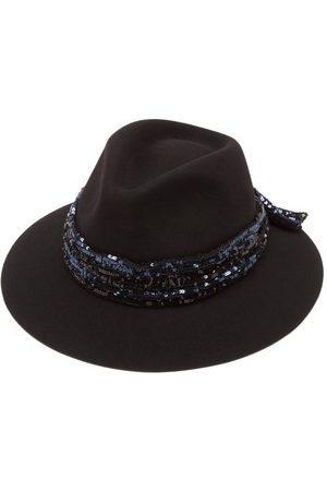 Le Mont St Michel Rico Sequinned Wool-felt Fedora Hat - Womens