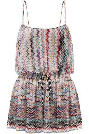 Missoni Zigzag-jacquard Knit Playsuit - Womens - Multi