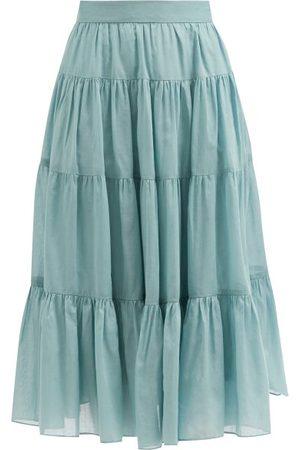 Loup Charmant Fontelli Tiered Organic-cotton Midi Skirt - Womens
