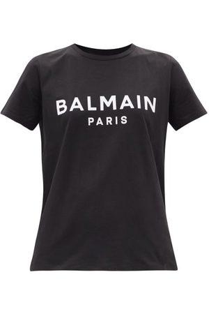 Balmain Logo-print Cotton-jersey T-shirt - Womens