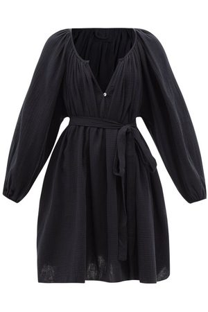 Loup Charmant Gathered Puckered Cotton-voile Dress - Womens
