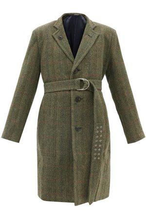 La Fetiche Women Blazers - Jean-paul Belted Single-breasted Wool-tweed Coat - Womens - Khaki