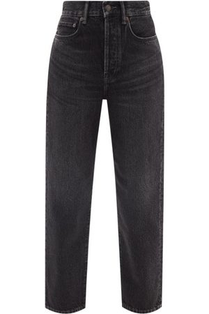 Acne Studios Women High Waisted - Mece High-rise Cropped Straight-leg Jeans - Womens