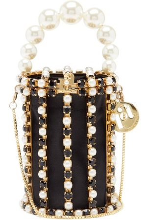 ROSANTICA Hippy Crystal And Faux-pearl Embellished Phone Bag - Womens - Multi