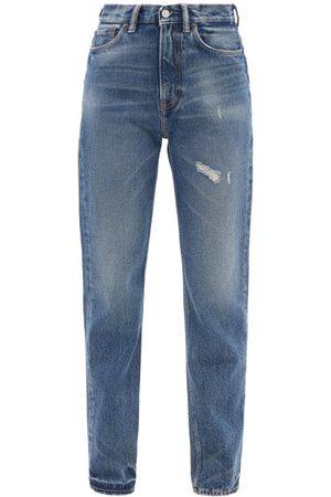 Acne Studios 1995 Distressed High-rise Slim-leg Jeans - Womens - Denim