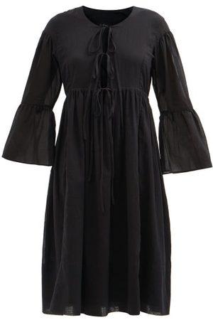 Loup Charmant Minerva Round-neck Cotton-voile Midi Dress - Womens