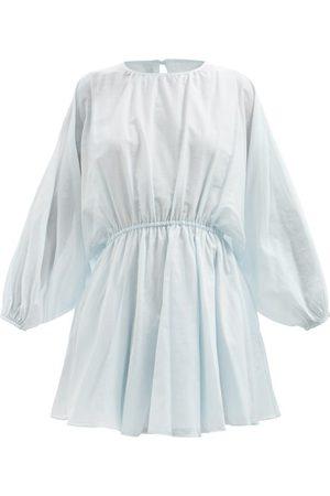 Loup Charmant Kitta Open-back Organic-cotton Voile Mini Dress - Womens - Light