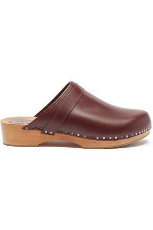 Isabel Marant Women Clogs - Thalie Leather Clogs - Womens - Burgundy