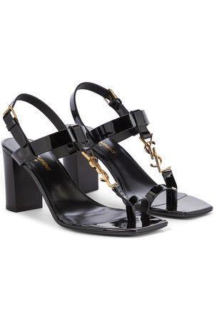 Saint Laurent Cassandra 75 patent leather sandals