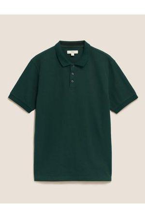 Marks & Spencer Men Polo Shirts - Cotton Textured Polo Shirt