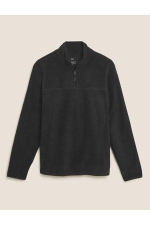 Marks & Spencer Men Fleece Jackets - Half Zip Micro Fleece