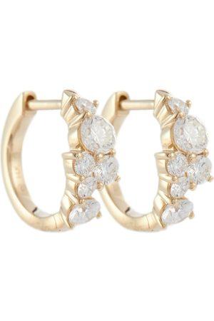 Sydney Evan Cocktail 14kt and diamond hoop earrings