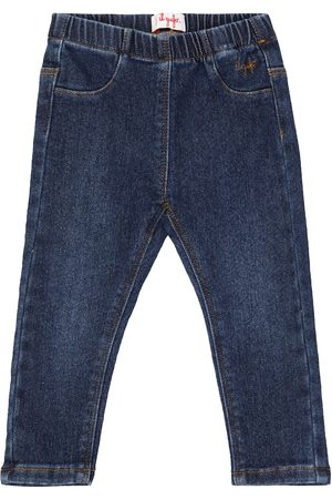 Il gufo Baby tapered stretch-cotton jeans