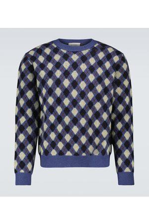 WALES BONNER Williams Argyle crewneck sweater