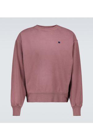 Acne Studios Men Sweatshirts - Fiah Face cotton-jersey sweatshirt