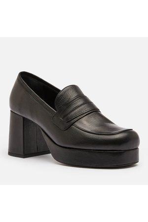 SIMON MILLER Women's Hustler Leather Platform Loafers