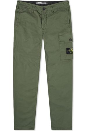 Stone Island Men Cargo Pants - Single Pocket Gabardine Cargo Pant