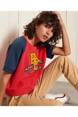 Superdry Women T-shirts - Collegiate Colour Block Sweat T-Shirt