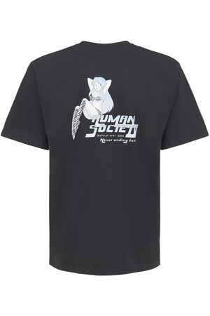 HUMAN SOCIETY Men T-shirts - Printed Never Ending Fun Cotton T-shirt