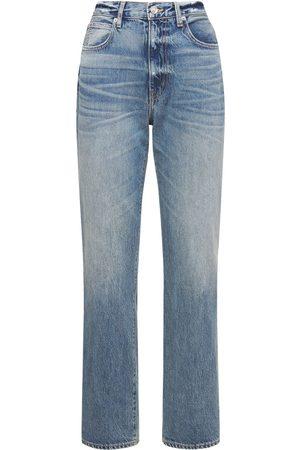 SLVRLAKE Women High Waisted - London High Rise Straight Cotton Jeans