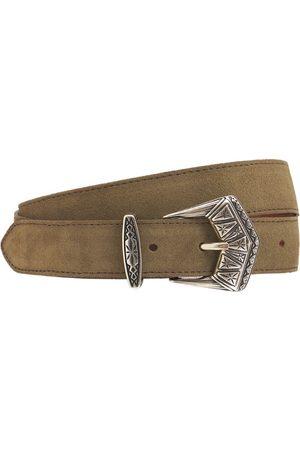 Etro 3cm Asta Suede & Leather Belt