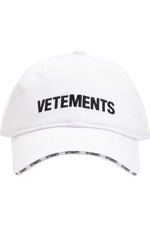 Vetements Logo Cotton Baseball Cap