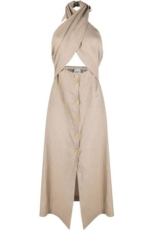 Nanushka Women Halterneck Dresses - Soffio halterneck dress - Neutrals