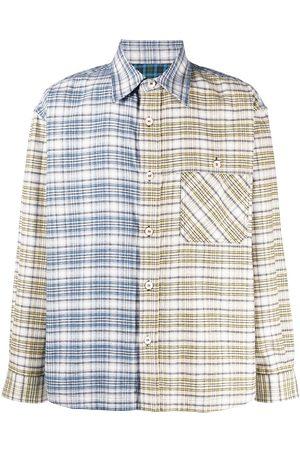 Marni Men Shirts - Panelled checked shirt