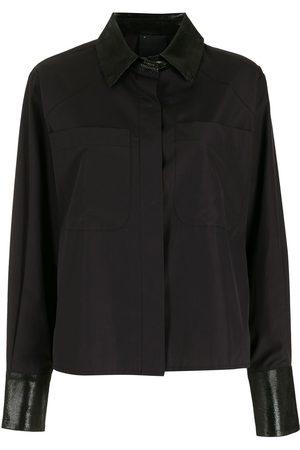 Andrea Bogosian Women Shirts - Contrast-panel shirt