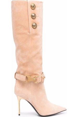 Balmain Mid-calf Robin boots - Neutrals