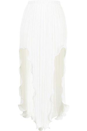 DION LEE Women Midi Skirts - Front-slit fluted midi skirt