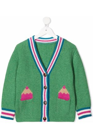 Stella McCartney Girls Cardigans - Pencil-intarsia knitted cardigan