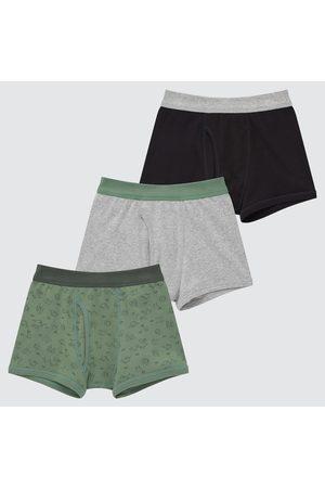 UNIQLO Boys Boxer Shorts - Boy's Boxer Briefs (Set Of 3), , 3Y