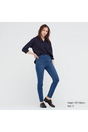UNIQLO Women Leggings - Women's Ultra Stretch High-Rise Denim Leggings Pants, , XXS
