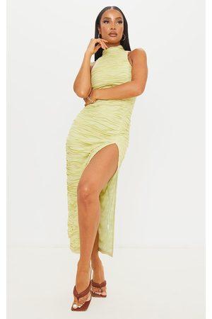 PRETTYLITTLETHING Exposed Seam Detail High Neck Sleeveless Midaxi Dress