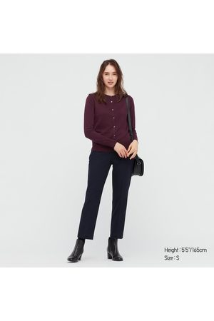UNIQLO Women Cardigans - Women's Extra Fine Merino Crew Neck Cardigan, , XS