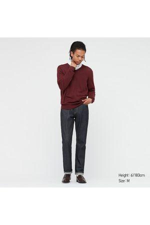 UNIQLO Men's Extra Fine Merino V-Neck Long-Sleeve Sweater, , XXS