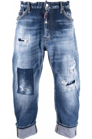 Dsquared2 Men Jeans - Distressed-effect cropped jeans
